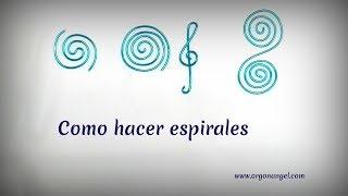 Como hacer espirales por Mari Carmen Lozano Orgonangel