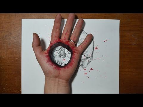 Cool 3D Trick Art – Bullet Hole in Hand