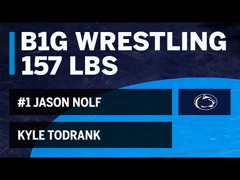 157 LBS: #1 Jason Nolf (Penn State) vs. Kyle Todrank (Buffalo) | Big Ten Wrestling