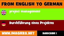 DEUTSCH   ENGLISCH  = Durchführung eines Projektes