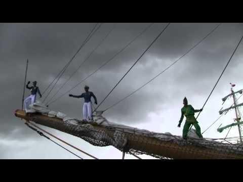 TallShips, Hartlepool 2010 - farewell from the Derawuci