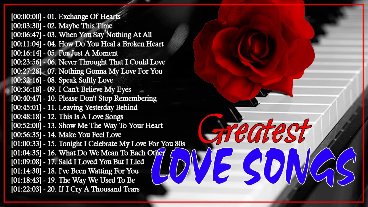 Relaxing Beautiful Love Songs 70s 80s 90s Playlist Greatest Hits Love Songs Ever Youtube