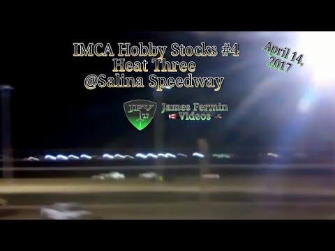 IMCA Hobby Stock #3, Heat, Salina Speedway, 2017