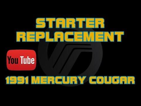 1999 mercury cougar starter wiring     1991 mercury cougar 3 8 starter replacement youtube      1991 mercury cougar 3 8 starter