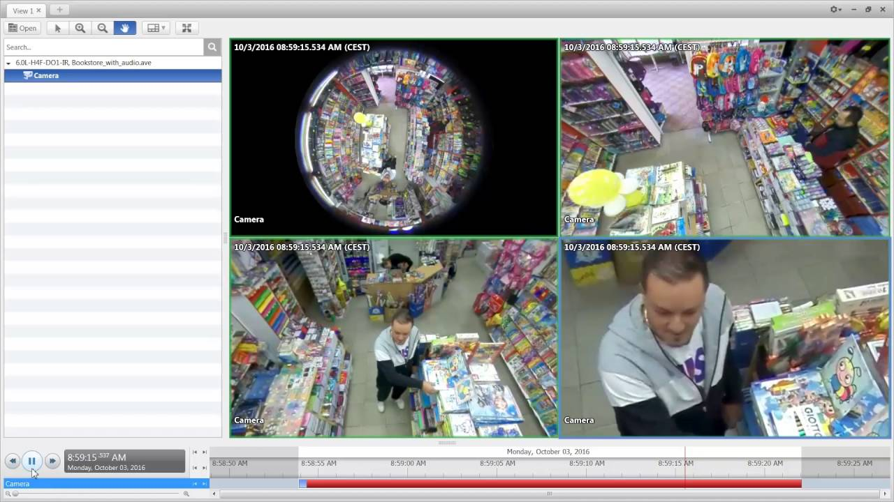 Captured by the Avigilon H4 Fisheye Camera | Retail Video Surveillance