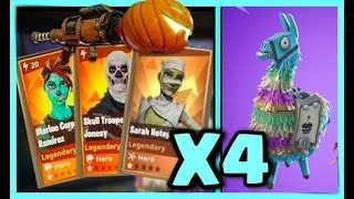MY BEST PACK OPENING OF LAMA ANNIVERSAIRE - FORTNITE SAUVER THE WORLD