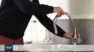 Instalace kuchyňské dřezové baterie s vytahovací výtokovou trubicí