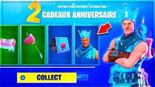 VOICI ALL THE FREE FORTNITE ANNIVERSAIRE RECOMPENSES!