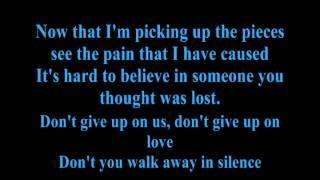 Creed Away in Silence Lyrics