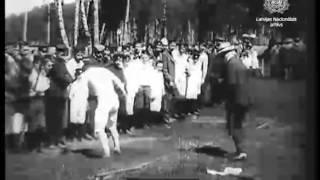 Полный фильм - Воспитанники Митавской земледельческой школы на прогулке и гимнастическом празднике