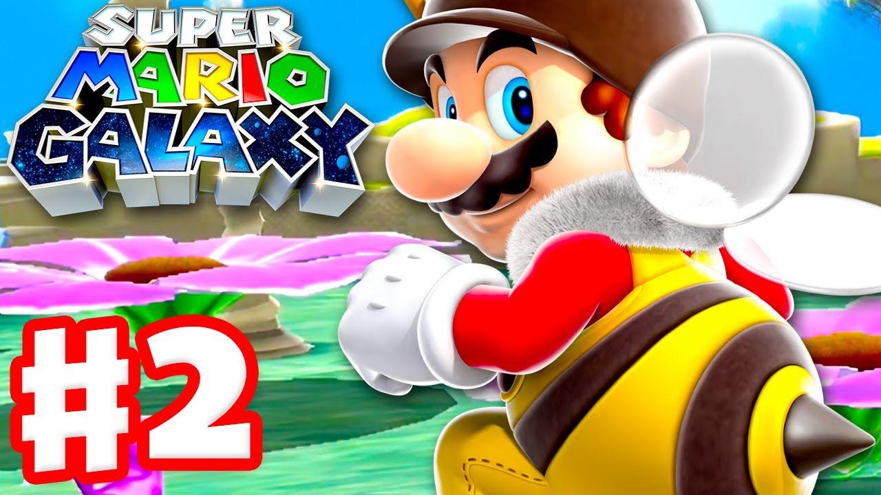 Download Super Mario Galaxy - Gameplay Walkthrough Part 2 - Honeyhive Galaxy! (Super Mario 3D All Stars)