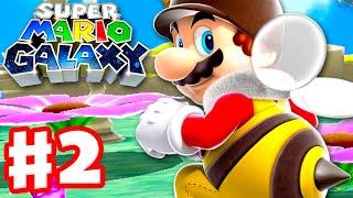 Super Mario Galaxy - Gameplay Walkthrough Part 2 - Honeyhive Galaxy! (Super Mario 3D All Stars)