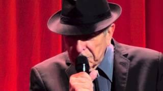 Leonard Cohen, I