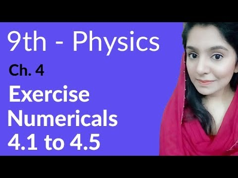 Matric part 1 Physics, ch 4, Exercise Numerical 4 1 to 4 5-Turning Effect  of Forces-9th Physics