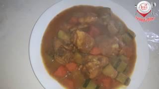 Courget ebong Misti Alo die chicken Vhuna || কোরজেট এবং মিষ্টি আলু দিয়ে মুরগি ভূনা
