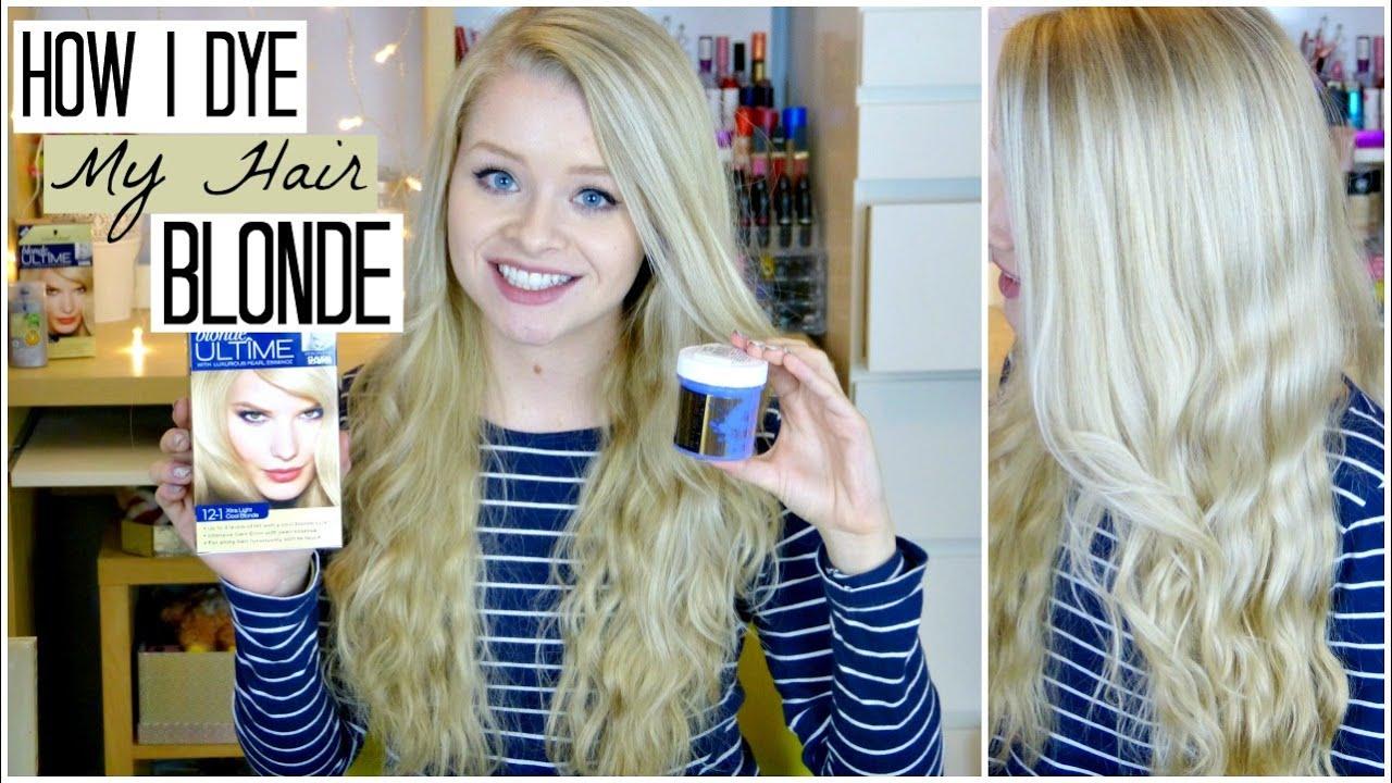 How I Dye My Hair Blonde (+ using Coconut Oil