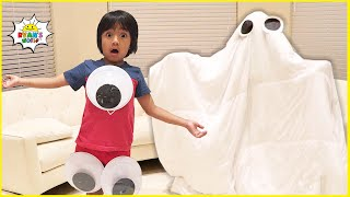 Ryan and the Halloween Ghost funny Stories for Kids!!!