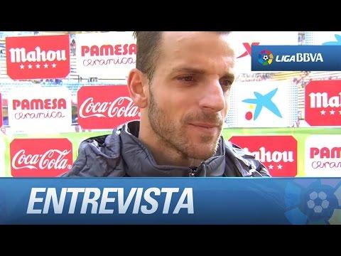 Entrevista a Roberto Soldado tras el Villarreal CF (2-0) Sporting de Gijón