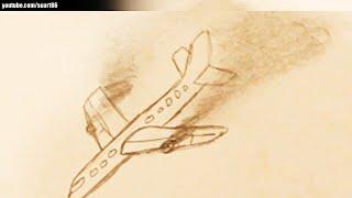 How to draw a plane crash