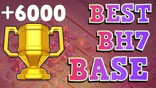 BEST Builder Hall 7 Base w/Replay!! +6000 CUPS! | CoC BH7 Base Design | Clash of Clans
