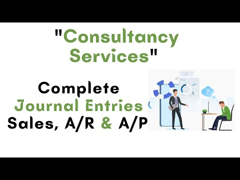Complete journal entries of consultant services