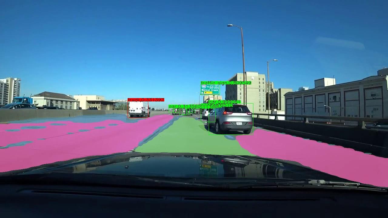 MobileNet-YOLO Pelee BDD100K with Lane detection