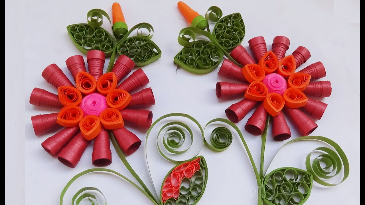 Quilling Happy New Year in 2016 greeting cards