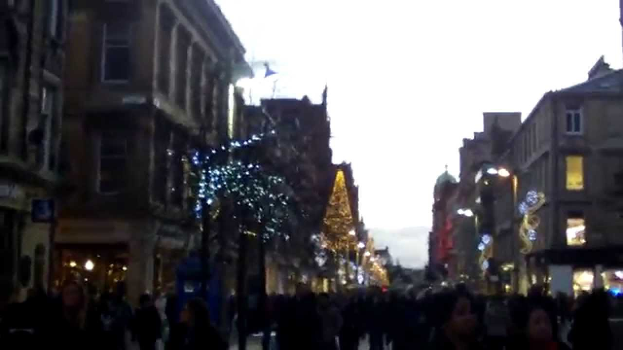 Buchanan street in Glasgow Scotland at Christmas time - YouTube