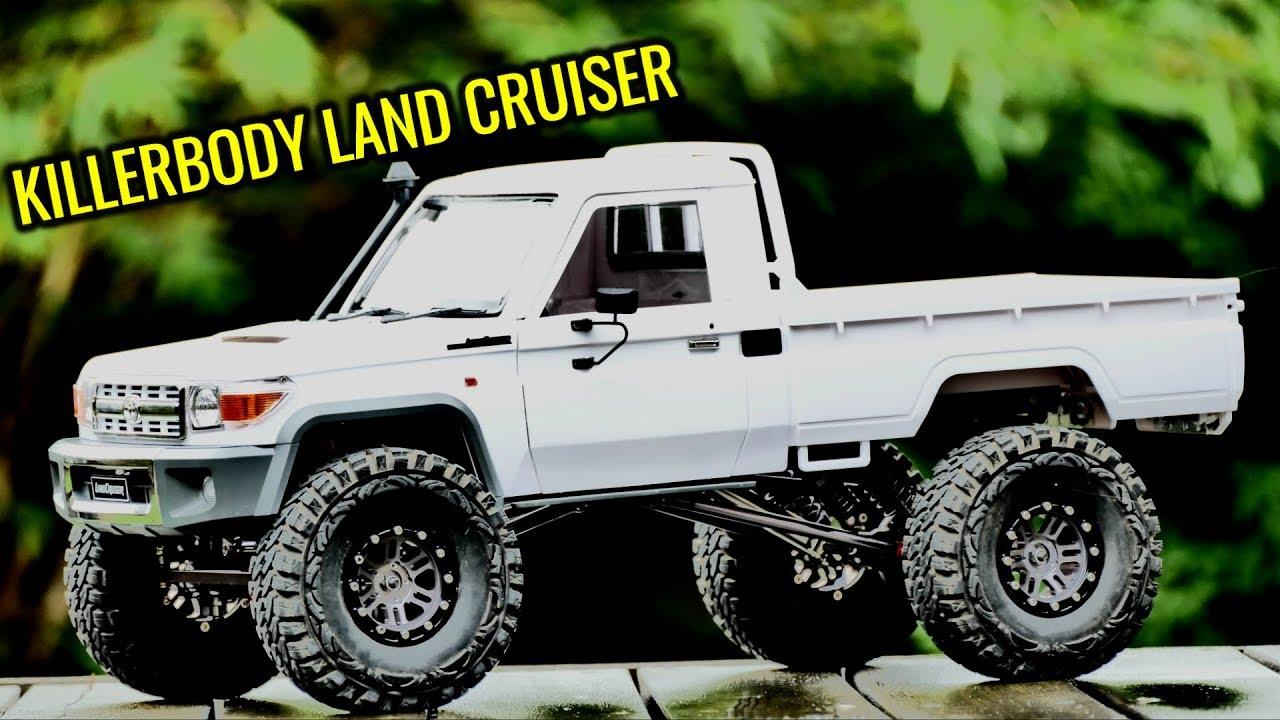 ALL METAL CARBON FIBER CHASSIS 1/10 ROCK CRAWLER - KillerBody Toyota Land  Cruiser Hard Body
