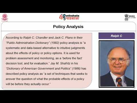 Policy Analysis Processes