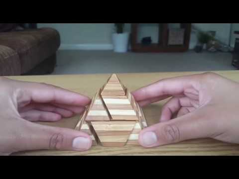 Wooden IQ Pyramid Puzzle Solution
