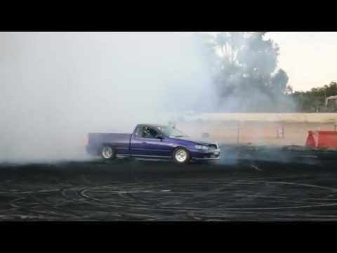 Kent Battle in his 1000HP XR6T at the NQ PRO Burnouts 4 Kent