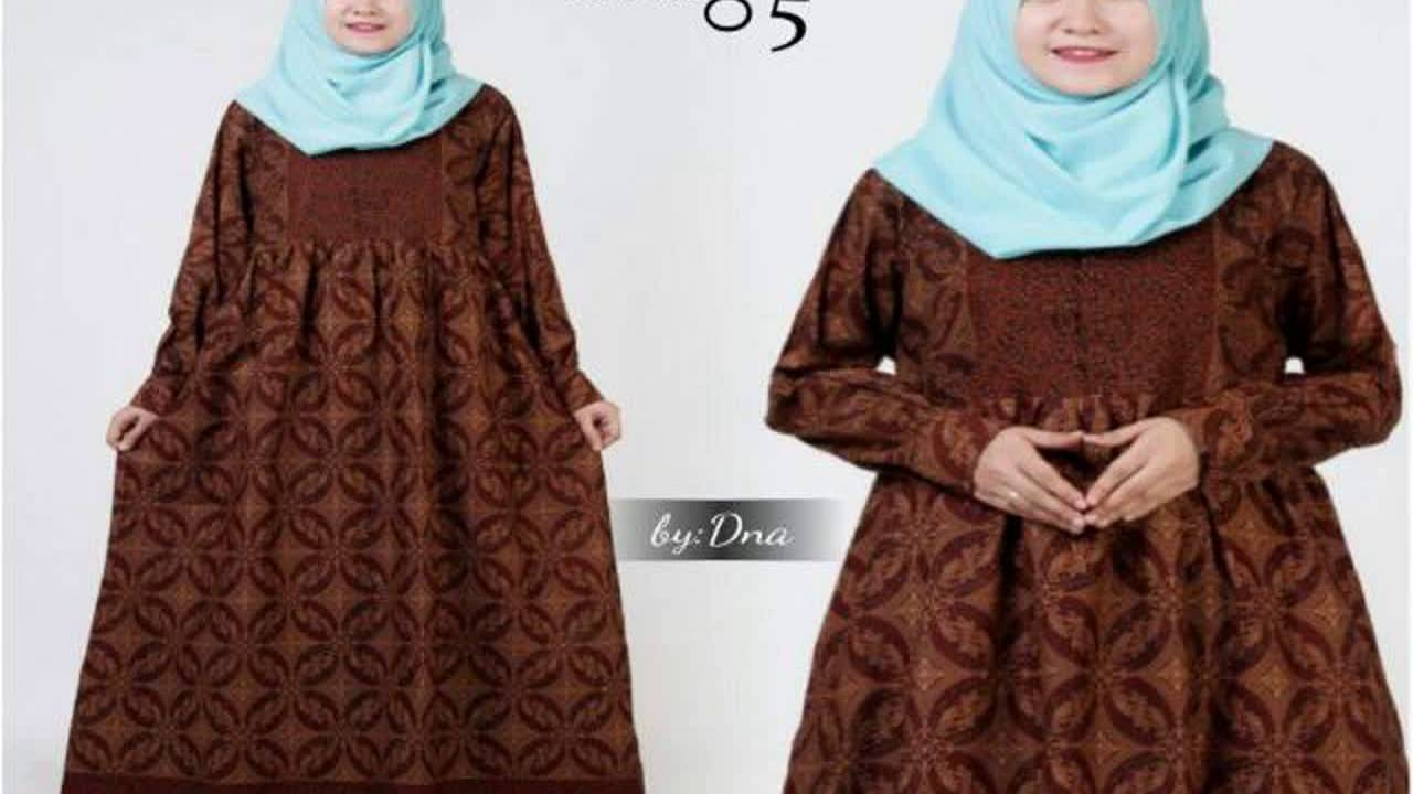 Dinar Batik Art Model Gamis Batik Anak Youtube
