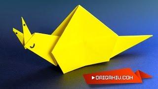snail paper - origami - Улитка из бумаги