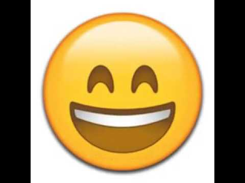Funny emoji telling good morning and have a nice day