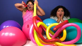 3 COLORS OF GLUE SLIME CHALLENGE CHALLENGE MAKING SLIME WITH GIANT BALLOONS EDITION