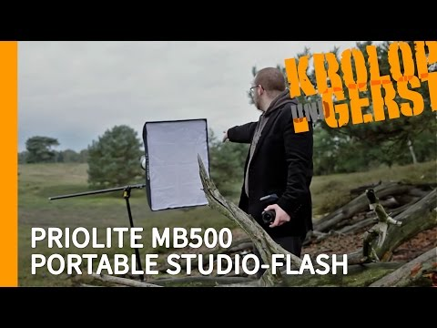 PRIOLITE MB500 PORTABLE STUDIO-FLASH ⛅ OUTDOOR ⛅  Krolop&Ger
