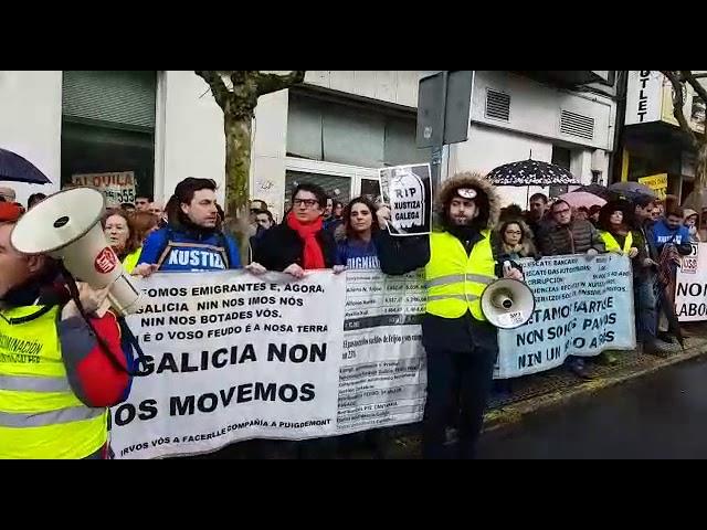 Os traballadores de Xustiza protestan no Parlamento ante a comparecencia de Rueda