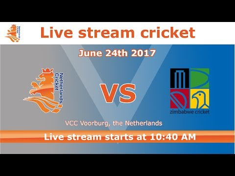 Live stream cricket The Netherlands - Zimbabwe game 3 June 24th 2017