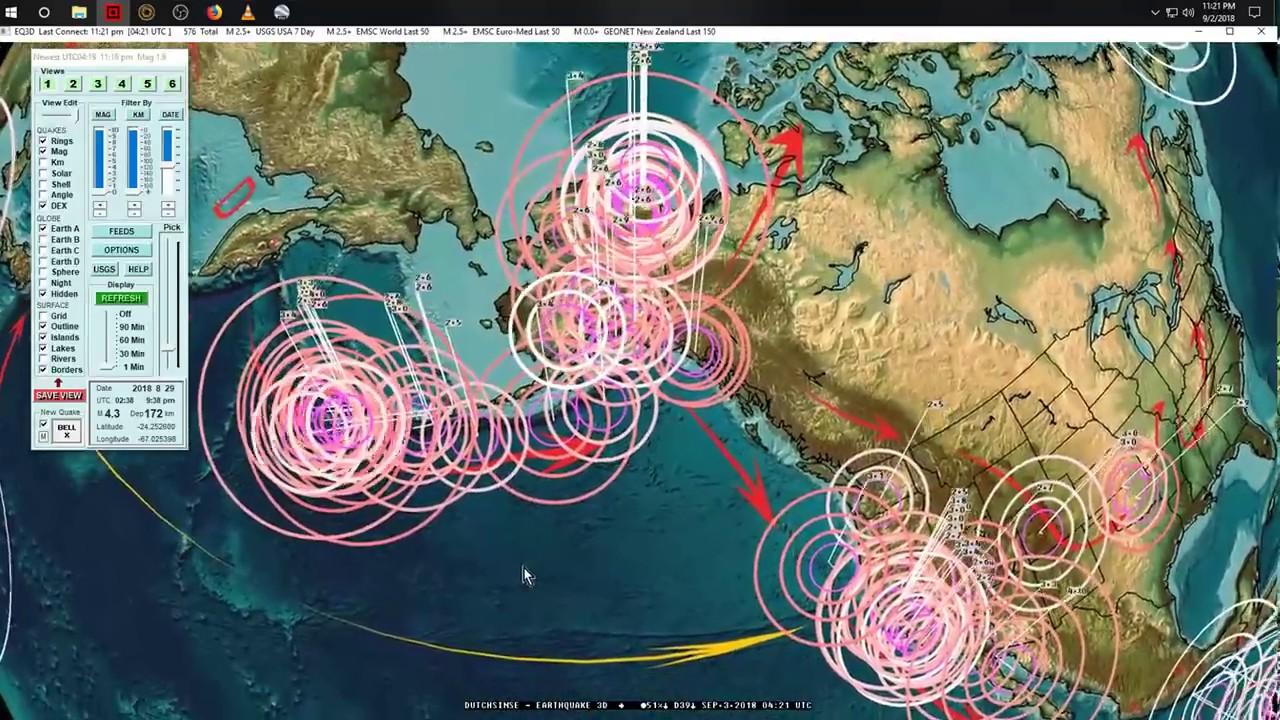 9/03/2018 -- Global Earthquake Forecast -- S. America , West Pacific, USA West Coast -- Keep watch