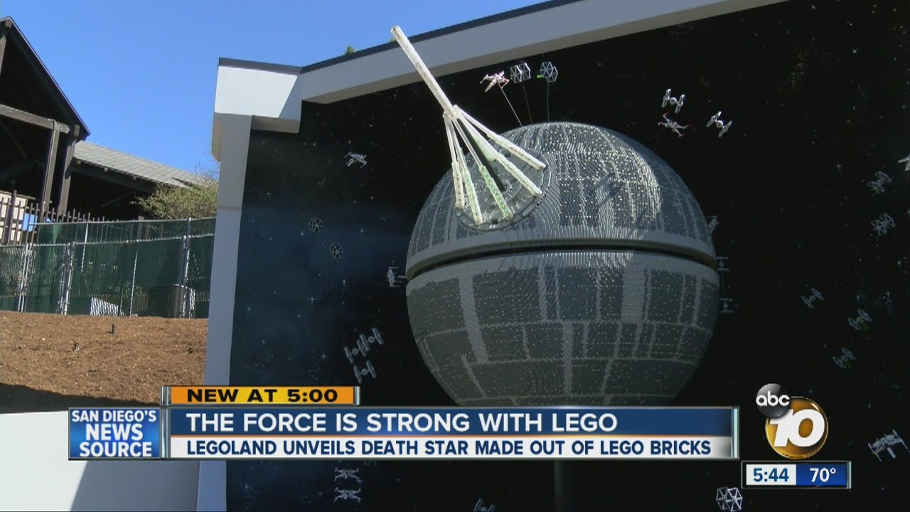 Legoland unveils Death Star made out of more than 500K Lego bricks