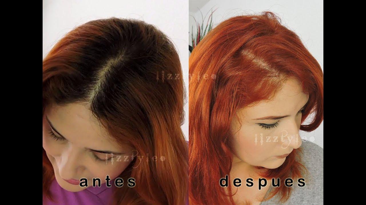 Aclara el cabello sin decolorar cobrizo naranja youtube - Muebles marron oscuro color pared ...