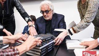 Flavio Briatore ed Elisabetta Gregoraci alla presentazione del libro