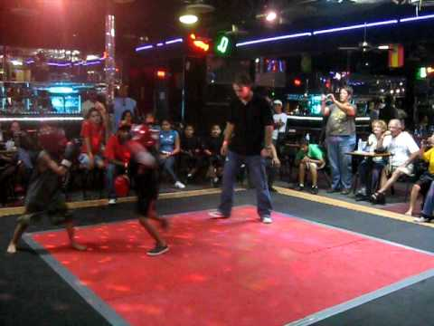The Worlds Famous 7yr. old girl China Lee fights 9yr. old boy 1 of 3 rounds