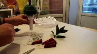Мастер-класс (2 часть) Свадебный букет невесты из лепестков роз.