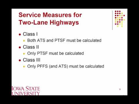 Lecture 07 Two Lane LOS