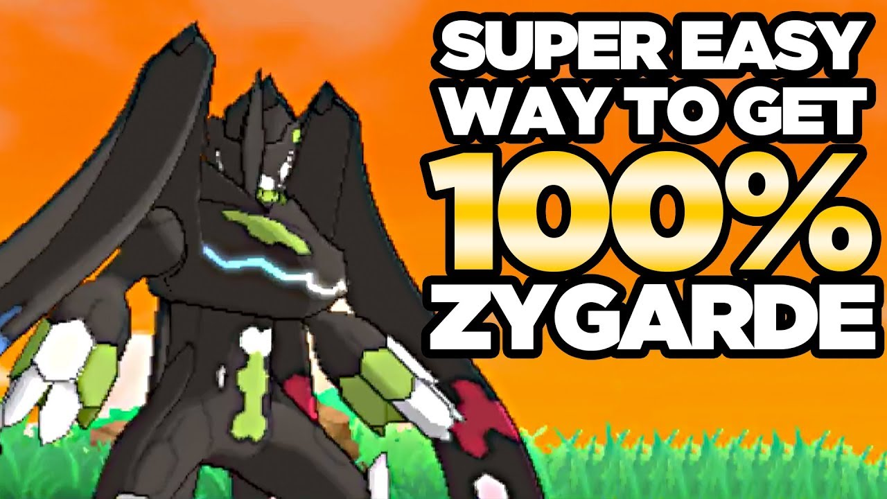 super easy way to get 100 zygarde complete form in pokemon ultra