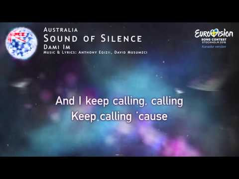 Dami Im - Sound of Silence (Australia) - [Karaoke version]