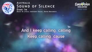 Dami Im - Sound of Silence (Australia) - [Karaoke version]