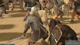 Легионер, кагорты орла IX легиона сражается против двух бриттов! One legionary VS the barbarian two